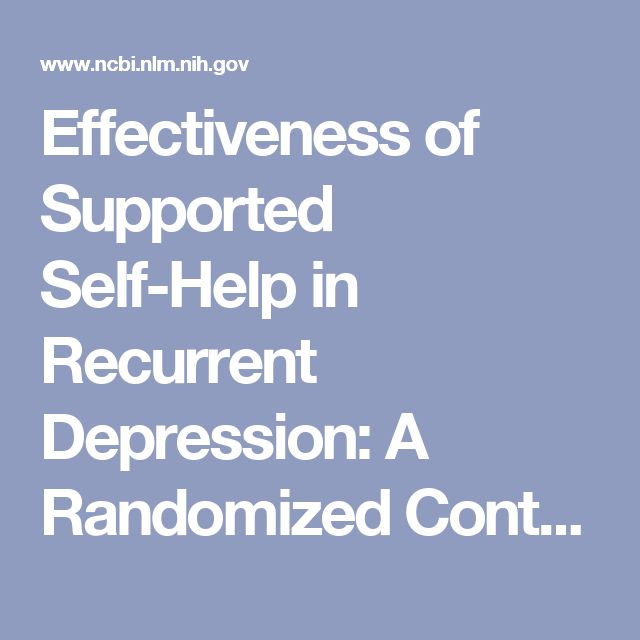 Effectiveness of Supported Self-Help in Recurrent Depression: A Randomized Controlled Trial in Primary Care. - PubMed - NCBI