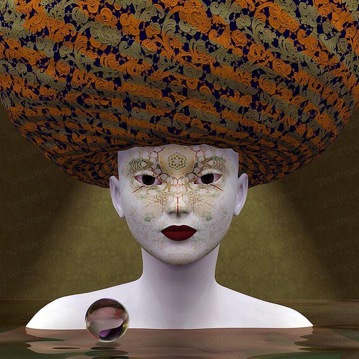 Hexa, digital art, art print, ink, fantastic art, portret, gezicht, paper print, wonderworld, surrealism, цифровое искусство, Dutch Art by Yetstream on Etsy https://www.etsy.com/listing/209183014/hexa-digital-art-art-print-ink-fantastic