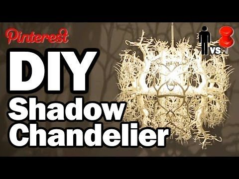 DIY Shadow Chandelier  -  MAN VS PIN #1 Not a great recreation but a place to start