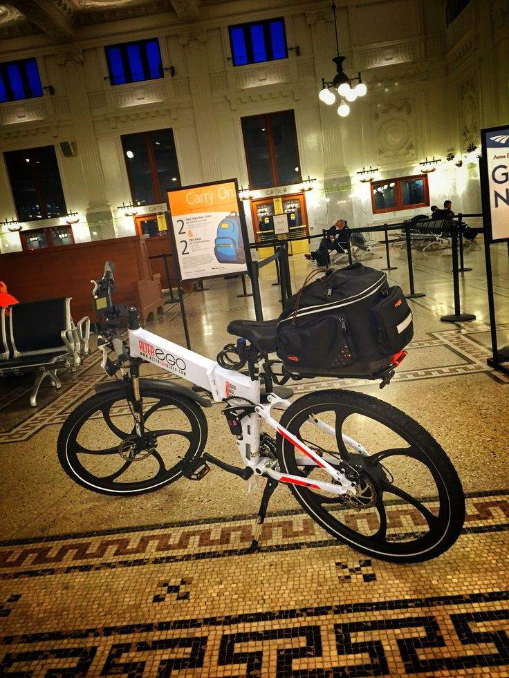 Brought our Alter Ego electric bikes on Amtrak to Seattle.