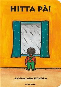 Ute regnarhimmel gråVara inneHitta på!Vad gör man inomhus en regnig dag? Dockan, apan, bollen och de andra leksakerna får vara med och  HITTA PÅ! En påhittig och fantasifull bilderbok för de allra yngsta. Den ingår i samma serie som Anna-Clara Tidholmsomåttligt populära Knacka på! Den rytmiska texten gör att man kan läsa och uppskatta boken många gånger, även som vuxen.Nu som tålig kartongbok!
