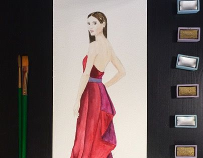 """Check out new work on my @Behance portfolio: """"Red dress"""" http://be.net/gallery/31547583/Red-dress"""