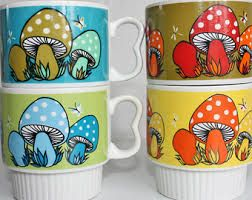 Image result for vintage stacking mugs