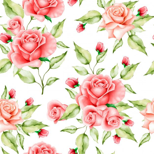 Watercolor Floral And Leaves Seamless Pattern In 2020 Floral Watercolor Floral Floral Texture
