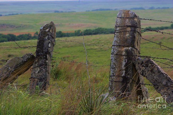 Kansas Stone Fence Posts E I E I O Pinterest