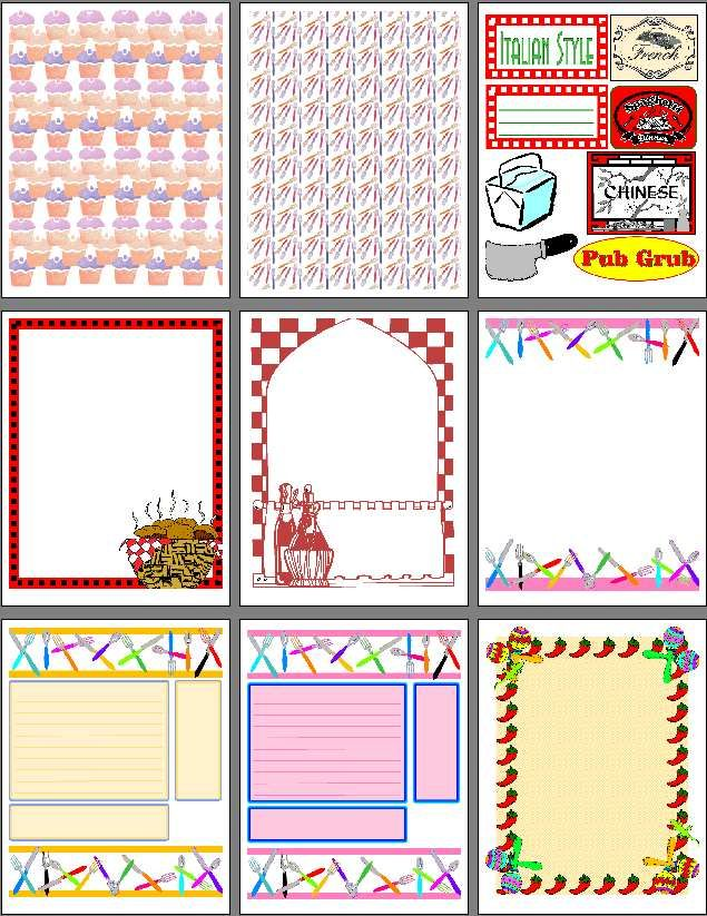 318 best recipe scrapbooking printables and blank recipe for Templates for scrapbooking to print