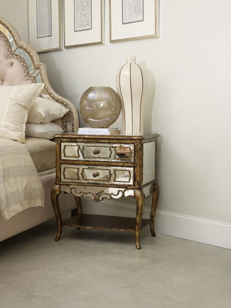 Mirrored Leg Nightstand | Hooker Furniture | Home Gallery ...