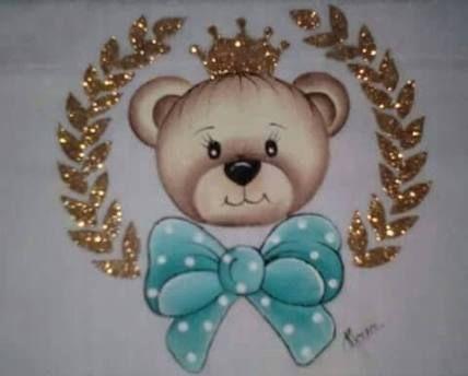Resultado de imagem para ursinhos para pintura em fraldas
