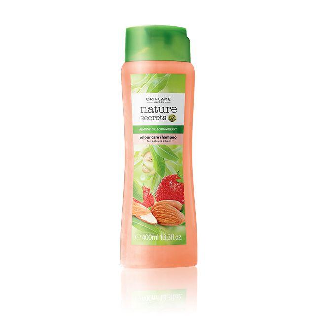 Šampón pro barvené vlasy s mandlovým olejem a jahodami - maxi balení #oriflame