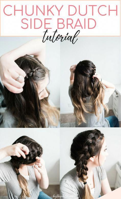 An easy and quick Chunky Dutch Braid tutorial - here's how to acheive this beautiful side braid and a great dutch braid hairstyle idea from Chelsie of...