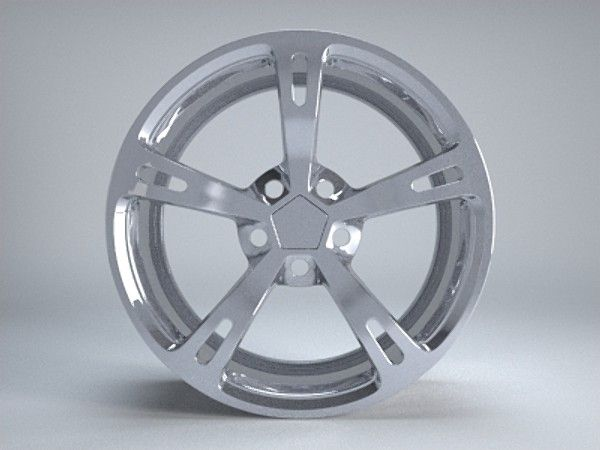 Obj Aftermarket Wheel Rim - 3D Model