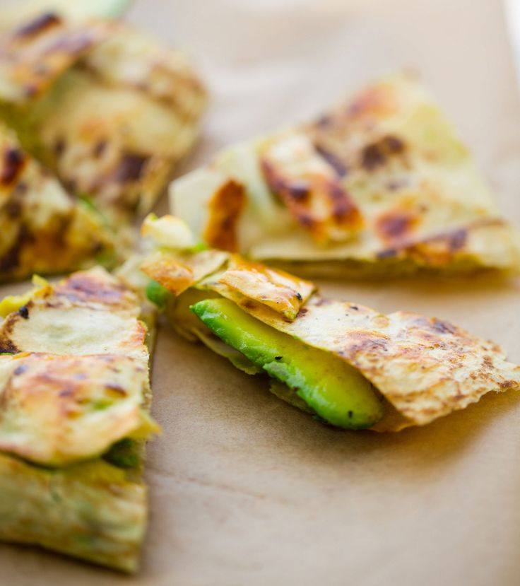 With buttery avocado wrapped between light and bubbly lavash layers, and maple syrup and salt giving a hint of sweet-salty flavor, this healthy riff on a quesadilla will help keep you satisfied until your next meal