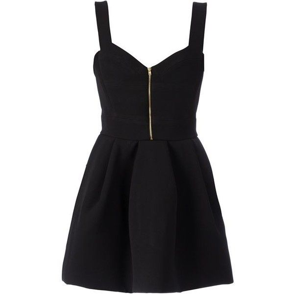 FAUSTO PUGLISI flared dress ($1,820) ❤ liked on Polyvore featuring dresses, vestidos, flare dress, black flared dress, black dress, kohl dresses and flared dress