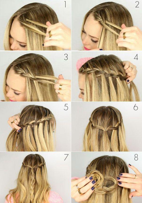 How to braid a pigtail waterfall  #braid #hairstyle #hairstyles #pigtail #Waterf…   – saç sekilleri