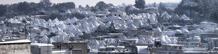 Happy New Year from Alberobello #Alberobello #Trulli #Panorama #Landscape #Snow #Neve #Puglia #Cones #White