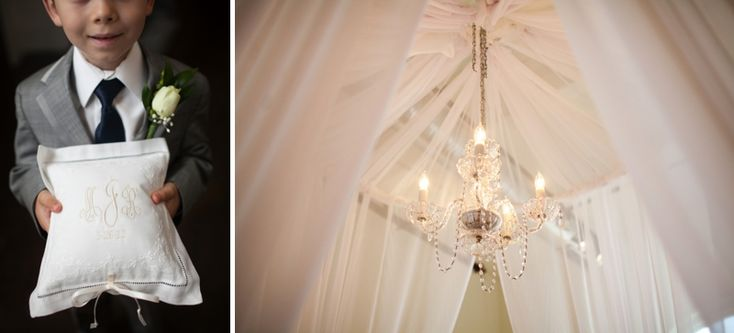 Pretty chandelier in a ceremony tent. Pink and Navy Southern Vintage Wedding