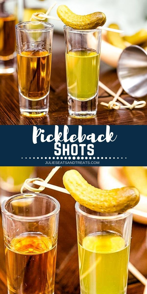 Pickleback Shots Are A Super Easy Shot To Make At Home Simply Take A Shot Of Whiskey Like Jameson And Shot Recipes Pickleback Shot Recipe Easy Shot Recipes