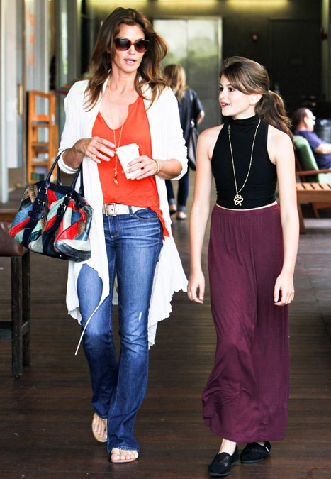 Cindy Crawford and her lookalike daughter, Kaia.