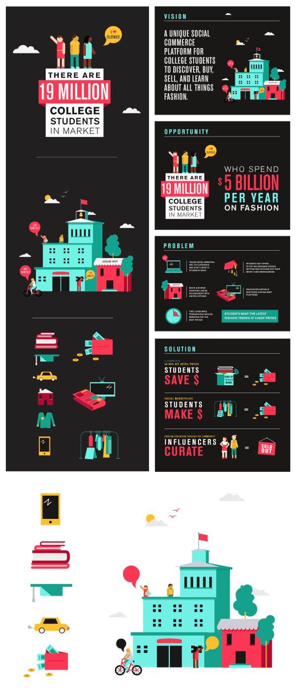 aSociete Pitch Deck Design by Sabrina Smelko, via Behance