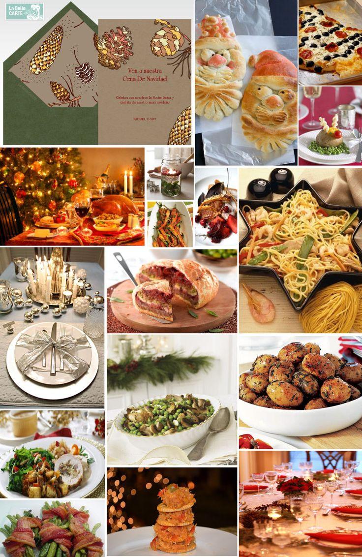 Cena de navidad, ideas para la cena de navidad, menú navideño, menú para cena de navidad, ideas para cenar en navidad, pavo navideño, tarjetas de navidad, invitaciones de navidad    Para más Info visita: www.LaBelleCarte.com