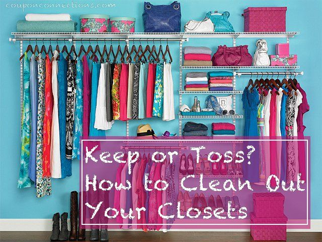 Keep or toss how to clean out your closets summer a - Cleaning out your closet ...