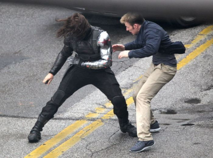 On Set of Captain America - Winter Soldier (1)