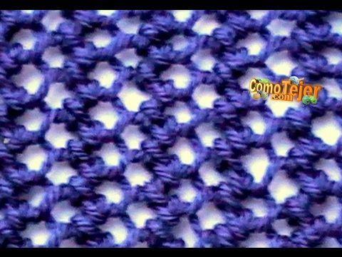 Cómo Tejer ENCAJE TEJIDO - Lace Stitch  2 Agujas (18) - YouTube