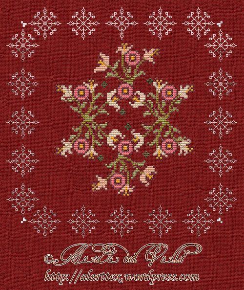 Gallery.ru / Рождественские цветы от Maria del Valle - Новый год и Рождество_2/freebies - Jozephina