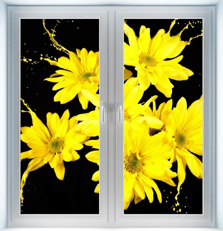 Majestic Wall Art - Yellow Flower Splashes Instant Window, $44.00 (http://www.majesticwallart.com/instant-windows/yellow-flower-splashes-instant-window)