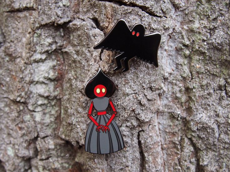 Mothman and Flatwoods Monster Enamel Pin Bundle by PunkOrSomething on Etsy https://www.etsy.com/ca/listing/483318640/mothman-and-flatwoods-monster-enamel-pin