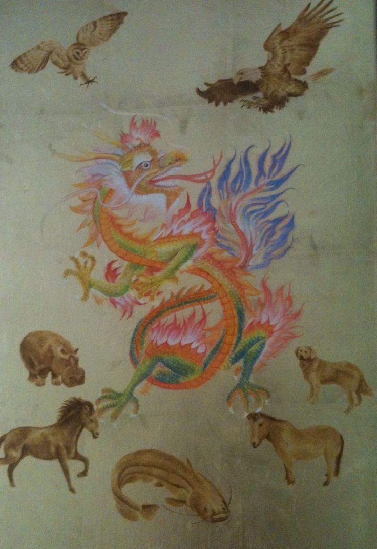 Jaar van de draak. Schilderij voor mij kleindochter.