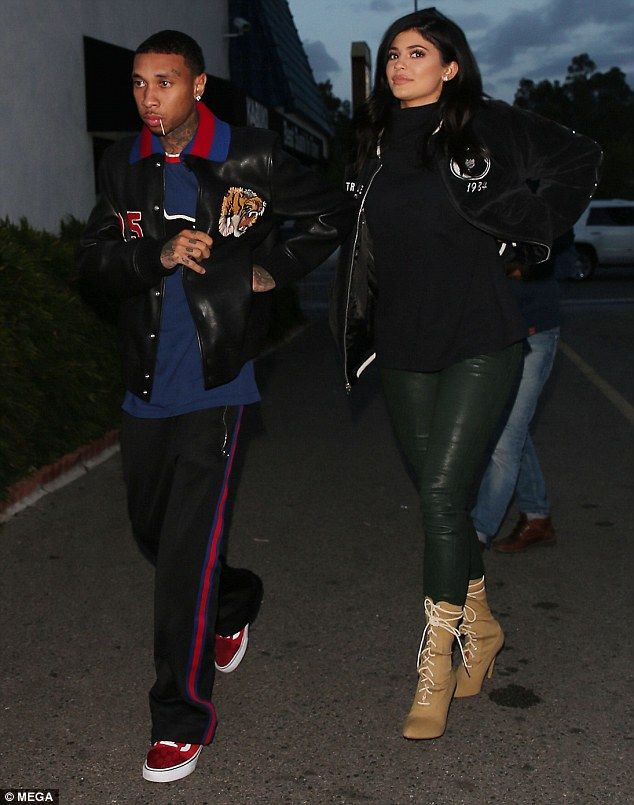 Date night: Kyle Jenner and her boyfriend Tyga spent a relaxed date night at Kabuki in Los Angeles on Wednesday evening
