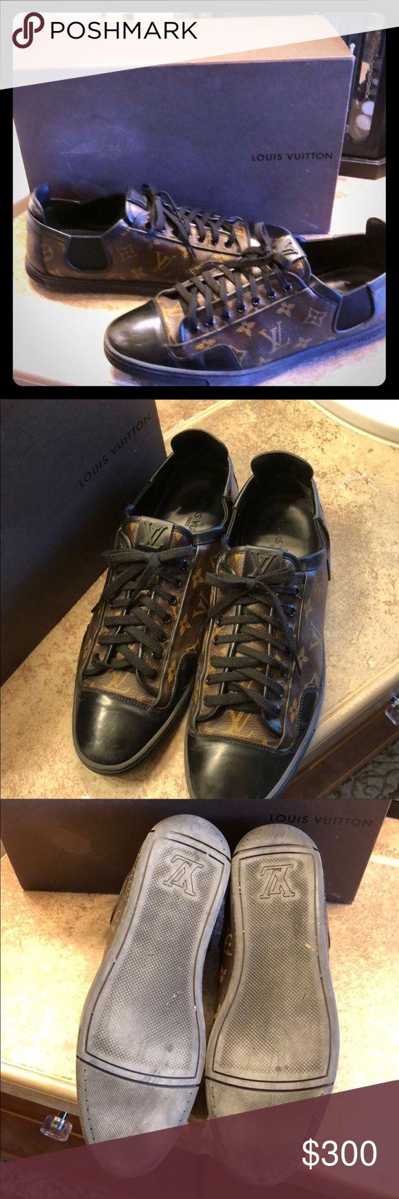 Authentic Men's Louis Vuitton Sneakers Size US11 Authentic Men's Louis Vuitton Sneakers Size US11 Louis Vuitton Euro Size 10 Fits men's US Size 11-11.5 foot Louis Vuitton Shoes Sneakers
