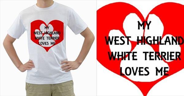 My+West+Highland+White+Terrier+Loves+Me+Men's+T-Shirt+(White)+