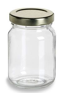 Specialty Bottle - 4 oz Jam Jar Glass with Gold Lid, $0.63 (http://www.specialtybottle.com/glass-jars/clear-straight-sided/short-metal-lid/4oz-jam4)