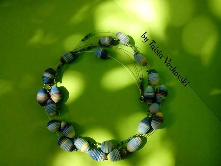 necklace with polymer clay
