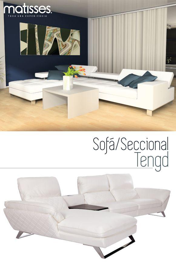 Los sofás seccionales proporcionan comodidad y optimizan el espacio. Inclúyelo en el living de tu hogar o en una sala de TV para una mejor experiencia de descanso