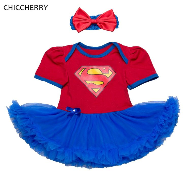 >> Click to Buy << Superman Costume Lace Tutu Baby Girl Dress Headband Vestido Infantil Robe Bebe Fille Toddler Birthday Outfits Infant Clothing #Affiliate