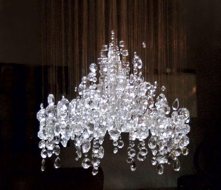 eva menz design chandelier crystal candelabra vintage crystal bronze wire
