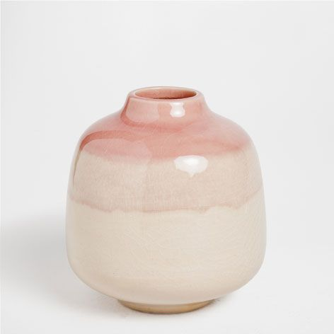 Pink-edged terracotta vase - Decoration - New collection | Zara Home Norway