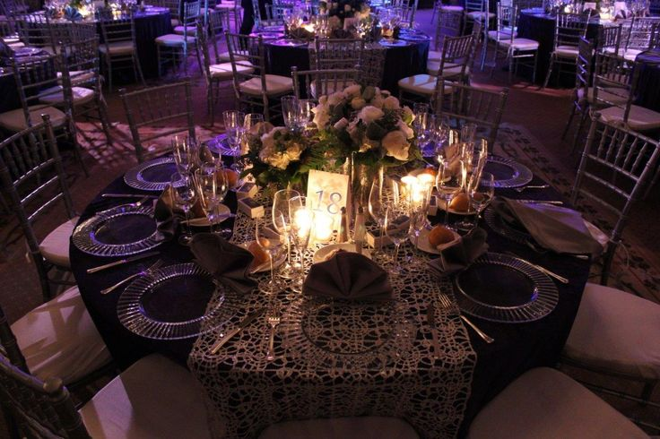 Gorgeous combination of texture, between the Silver Metallic Lace and the Navy Blue Velvet