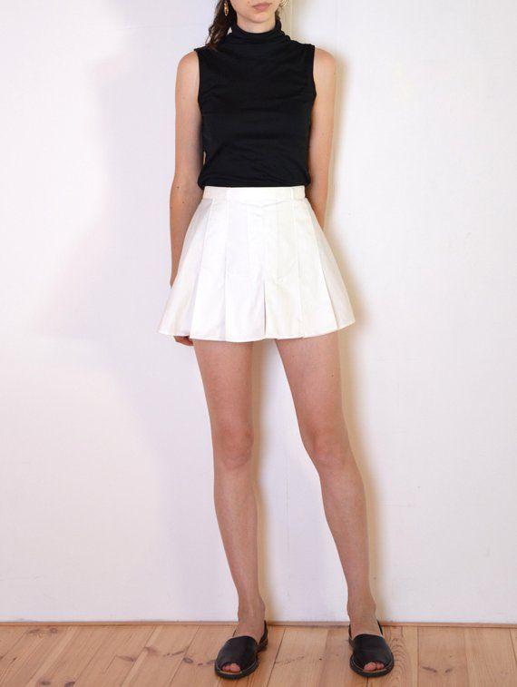 Pleated Skirt  Pleated Skirts  Skirt Vintage  Floral  Elastic Waist  Size EUR38  40  UK10  12  Highwaisted   Small Size  White