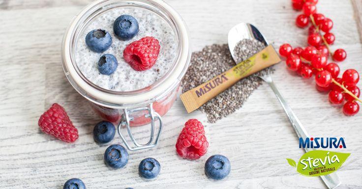 Crema di lamponi, mirtilli e semi di chia: un dessert delizioso e ricco di proprietà benefiche.  http://www.misurastevia.it/page/ricette-e-fantasia/name/crema-di-lamponi-mirtilli-e-semi-di-chia#.WL2GcmThD-Y