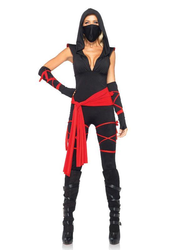 Sexy Ninja Asia Damenkostüm schwarz-rot. Aus der Kategorie Damenkostüme / Sexy Damenkostüme. Das Ninja-Kostüm macht Sie zu einer gefährlichen Assassine: Schnell und tödlich! Immerhin kann die Zielperson beim dem sexy Damenkostüm noch einen schönen Anblick genießen, bevor sich seine Augen schließen!