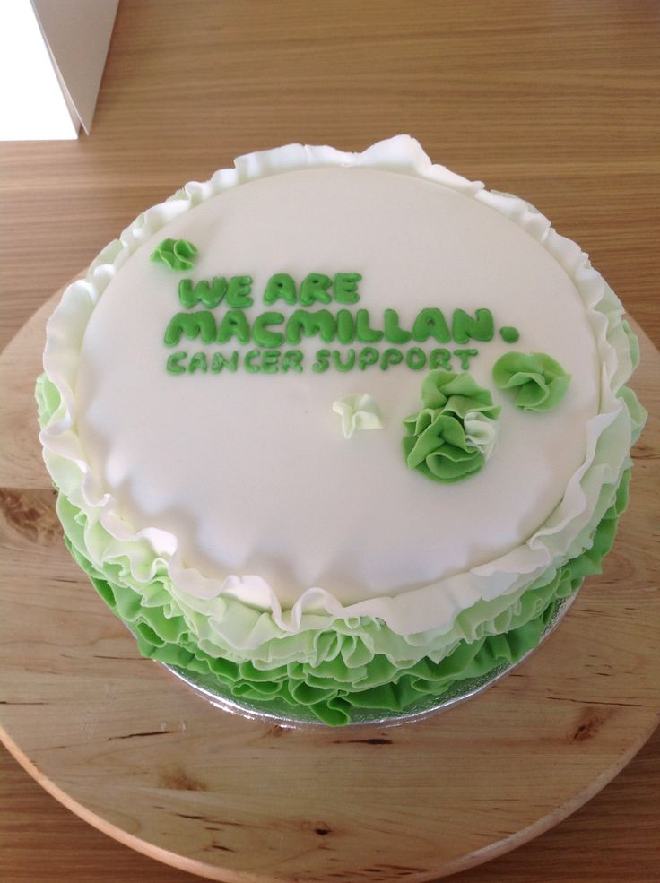 Charity raffle cake - Macmillan cancer support