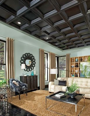 Ceilings And Ceiling Tile Systems By Armstrong : Easy Elegance Coffer    Home Decorating Magazines