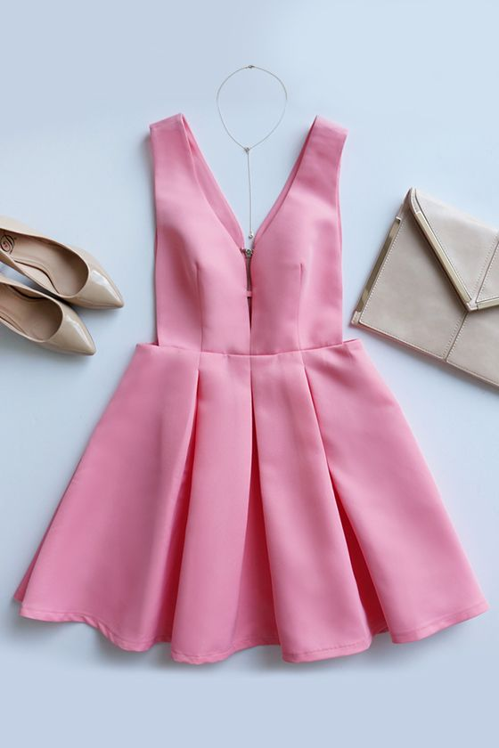 Summer wedding guest dresses 2018 : Hopes and Dreams Pink Skater Dress