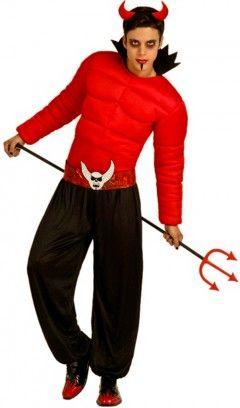 déguisement diable rouge homme, pour être diablement musclé à  Halloween