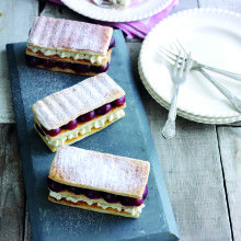 My Roasted Cherry Millefeuille recipe