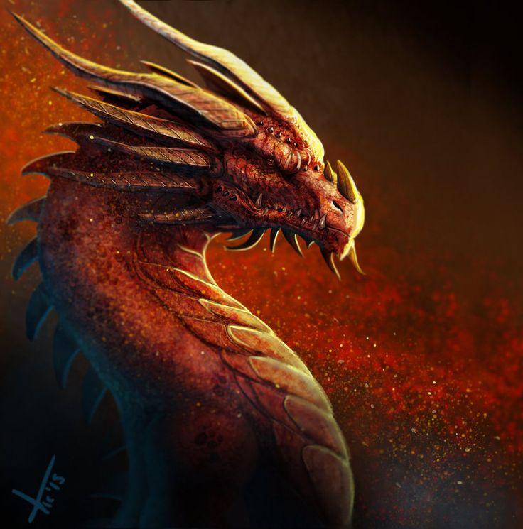 Red Dragon by victter-le-fou.deviantart.com on @DeviantArt